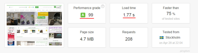 otag pingdom - سئو وردپرس و بهینه سازی سایت و فروشگاه