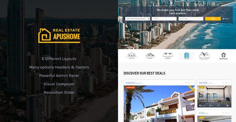 دانلود قالب وردپرس ApusHome-Real Estate اورجینال و ریسپانسیو