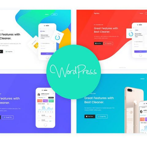 Aprimo - Mobile & App Landing WordPress Theme