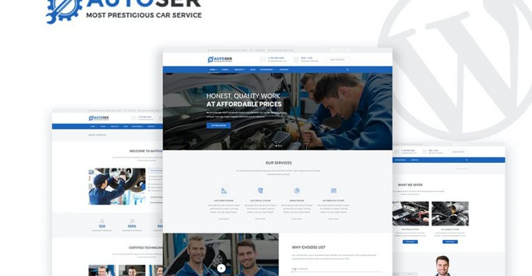 Autoser - Car Repair & Auto Services WP Theme