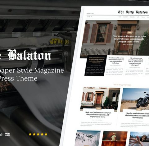 Balaton - Newspaper style Magazine WordPress Theme