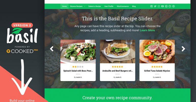 Basil - Recipes WordPress Theme